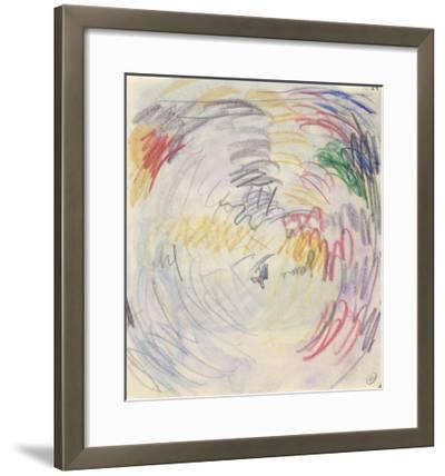 Carnet : Composition circulaire et annotations manuscrites-Paul Signac-Framed Giclee Print
