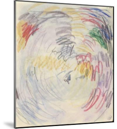Carnet : Composition circulaire et annotations manuscrites-Paul Signac-Mounted Giclee Print
