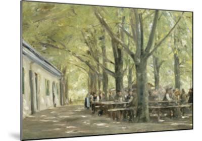 Brasserie de campagne à Brannenbourg (Bavière)-Max Liebermann-Mounted Giclee Print