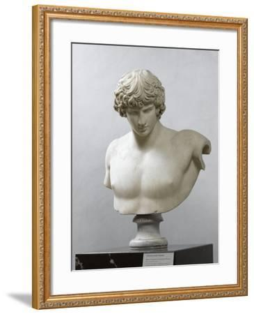 Bust of Antinous, Antinous Said Ecouen (117-138 Ad)--Framed Giclee Print