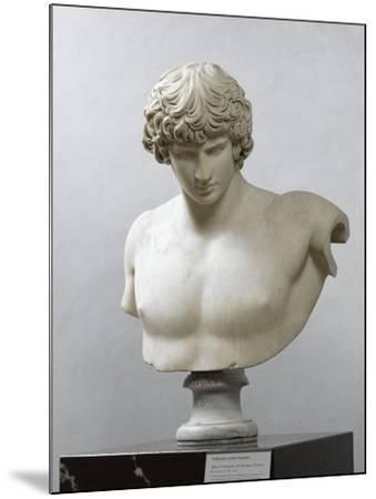 Bust of Antinous, Antinous Said Ecouen (117-138 Ad)--Mounted Giclee Print