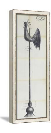Cathédrale de Coutances, coq du clocher--Framed Stretched Canvas Print