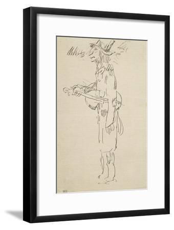 Caricature, violoniste, profil gauche-Pierre Puvis de Chavannes-Framed Giclee Print