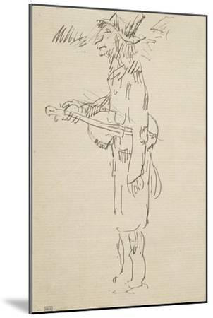 Caricature, violoniste, profil gauche-Pierre Puvis de Chavannes-Mounted Giclee Print