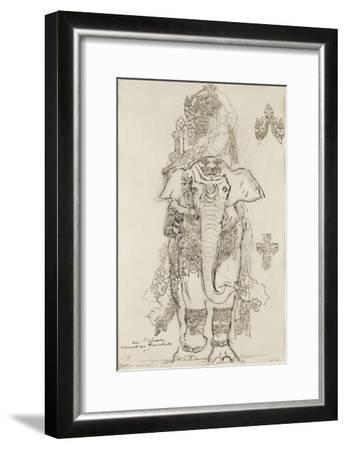Carton 31. Etude pour la Péri-Gustave Moreau-Framed Giclee Print