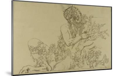 """Carton 49. Etude du Grand Pan pour """"Jupiter et Sémélé""""-Gustave Moreau-Mounted Giclee Print"""