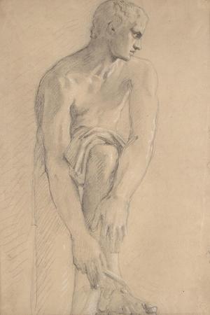 Carton 80. Etude de sculpture antique-Gustave Moreau-Stretched Canvas Print