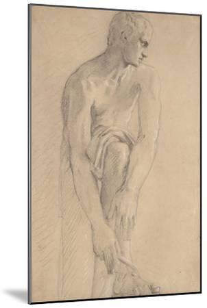 Carton 80. Etude de sculpture antique-Gustave Moreau-Mounted Giclee Print