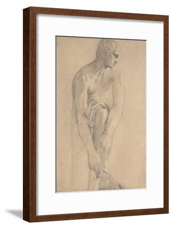 Carton 80. Etude de sculpture antique-Gustave Moreau-Framed Giclee Print