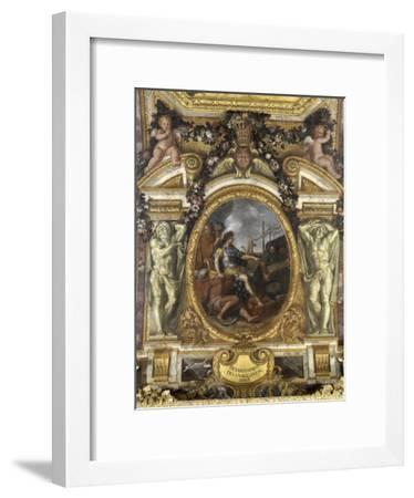 Ceiling of the Hall of Mirrors: Restoring Navigation-Charles Le Brun-Framed Giclee Print
