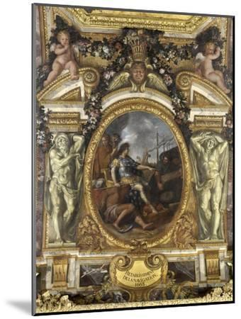 Ceiling of the Hall of Mirrors: Restoring Navigation-Charles Le Brun-Mounted Giclee Print