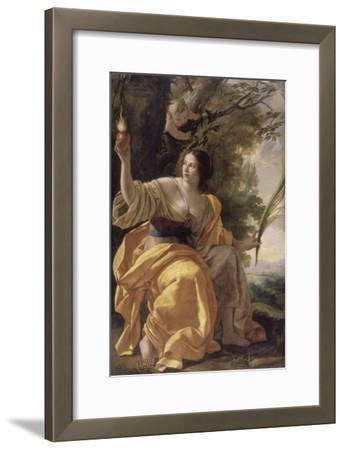 La Charité (autrefois : la Foi)-Simon Vouet-Framed Giclee Print