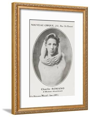 Charlie Romano. L'homme désarticulé.--Framed Giclee Print