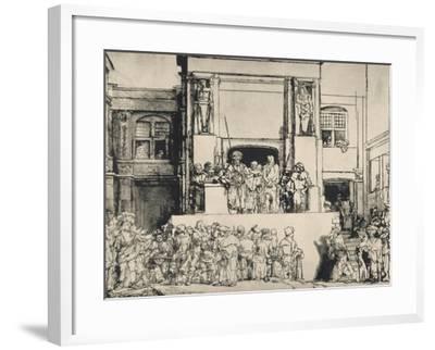 """Le Christ présenté au peuple, dit """"en largeur""""; 3ème état-Rembrandt van Rijn-Framed Giclee Print"""