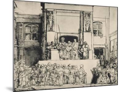"""Le Christ présenté au peuple, dit """"en largeur""""; 3ème état-Rembrandt van Rijn-Mounted Giclee Print"""
