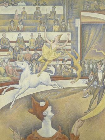 Le cirque-Georges Seurat-Framed Giclee Print