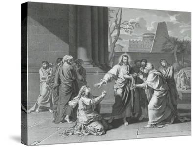 Le Christ et la Cananéenne--Stretched Canvas Print