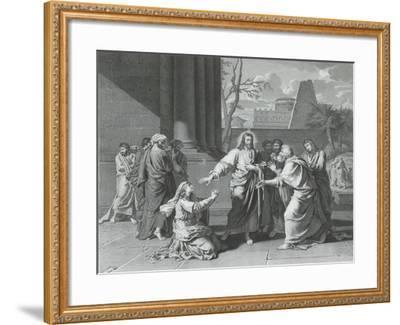 Le Christ et la Cananéenne--Framed Giclee Print