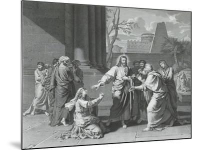 Le Christ et la Cananéenne--Mounted Giclee Print
