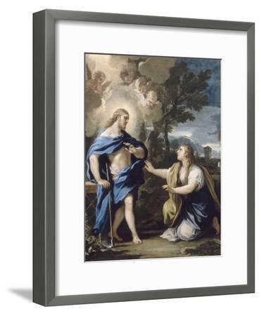 Le Christ apparaissant à la Madeleine-Luca Giordano-Framed Giclee Print