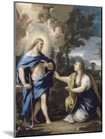Le Christ apparaissant à la Madeleine-Luca Giordano-Mounted Giclee Print