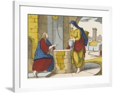 Jésus et la Samaritaine--Framed Giclee Print