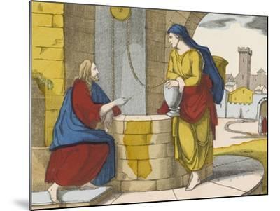 Jésus et la Samaritaine--Mounted Giclee Print