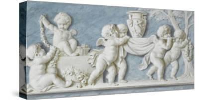 Amours et attributs vase porté sur un brancard-Piat Joseph Sauvage-Stretched Canvas Print