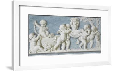 Amours et attributs vase porté sur un brancard-Piat Joseph Sauvage-Framed Giclee Print