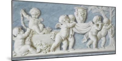 Amours et attributs vase porté sur un brancard-Piat Joseph Sauvage-Mounted Giclee Print