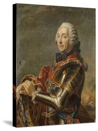 Louis-Charles-Auguste Fouquet, maréchal-duc de Belle-Isle (1684-1761)-Maurice Quentin de La Tour-Stretched Canvas Print