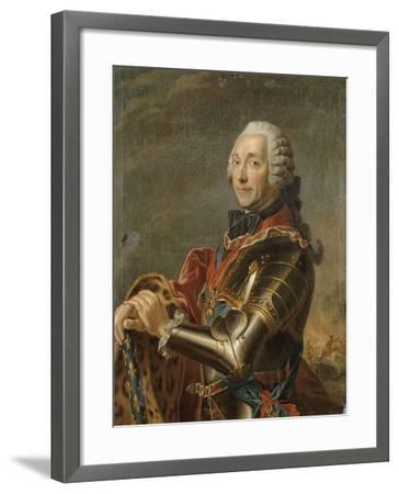 Louis-Charles-Auguste Fouquet, maréchal-duc de Belle-Isle (1684-1761)-Maurice Quentin de La Tour-Framed Giclee Print