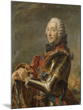 Louis-Charles-Auguste Fouquet, maréchal-duc de Belle-Isle (1684-1761)-Maurice Quentin de La Tour-Mounted Giclee Print