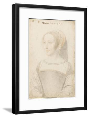 Madame l'amiralle de Briom, Philippe Chabot, amiral, sire de Brion (vers 1510-vers 1565)-Jean Clouet-Framed Giclee Print