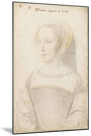 Madame l'amiralle de Briom, Philippe Chabot, amiral, sire de Brion (vers 1510-vers 1565)-Jean Clouet-Mounted Giclee Print