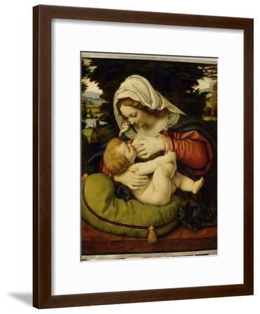 La Vierge au coussin vert-Andrea Solario-Framed Giclee Print