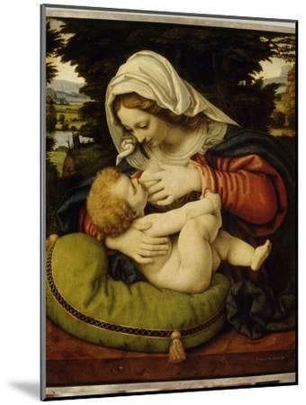 La Vierge au coussin vert-Andrea Solario-Mounted Giclee Print