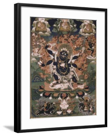 Mahâkâla, sous son aspect Sadbhuja--Framed Giclee Print