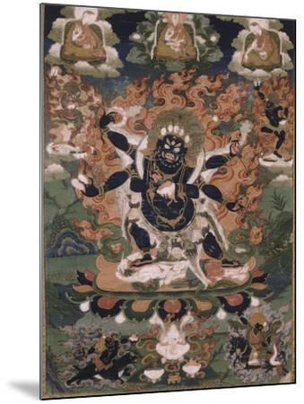 Mahâkâla, sous son aspect Sadbhuja--Mounted Giclee Print