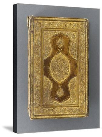 Manuscrit, reliure à décor de mandorle--Stretched Canvas Print