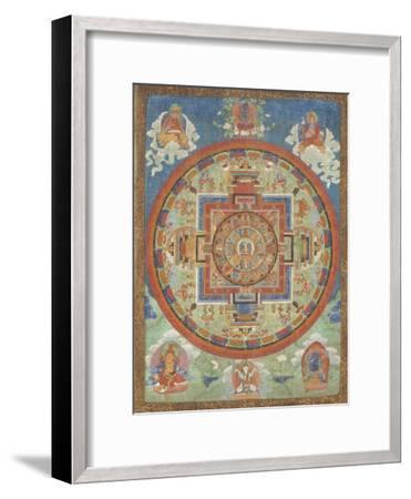 Mandala de Sitâtapatrâ--Framed Giclee Print
