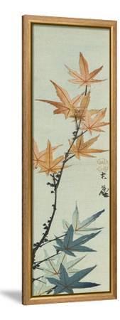Branche d'érable-Katsushika Taito II-Framed Stretched Canvas Print
