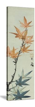 Branche d'érable-Katsushika Taito II-Stretched Canvas Print