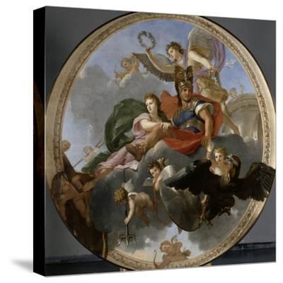 Mars et Venus-Charles Le Brun-Stretched Canvas Print