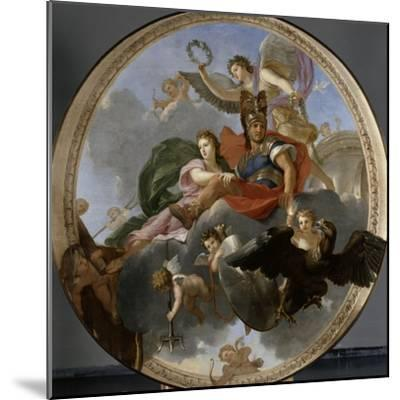 Mars et Venus-Charles Le Brun-Mounted Giclee Print