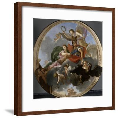 Mars et Venus-Charles Le Brun-Framed Giclee Print