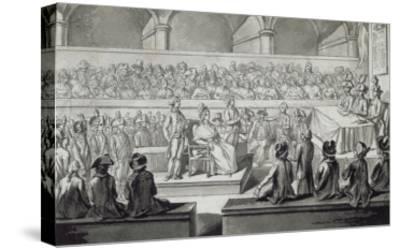 Marie-Antoinette devant le tribunal révolutionnaire, journées du 14,15,16 octobre 1793--Stretched Canvas Print