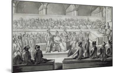 Marie-Antoinette devant le tribunal révolutionnaire, journées du 14,15,16 octobre 1793--Mounted Giclee Print