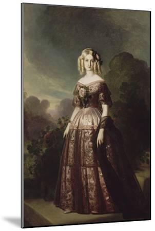 Marie-Caroline-Auguste de Bourbon-Salerne, duchesse d'Aumale (1822-1869)-Franz Xaver Winterhalter-Mounted Giclee Print
