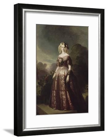 Marie-Caroline-Auguste de Bourbon-Salerne, duchesse d'Aumale (1822-1869)-Franz Xaver Winterhalter-Framed Giclee Print